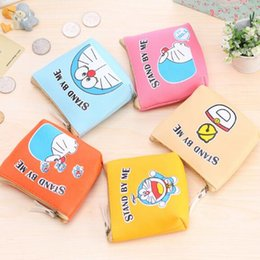 Wholesale Halloween Doraemon - Doraemon cat PU cartoon ladies wallets coin bag Coin purse Preppy Style Preppy Style wallet 50 pcs free shipping