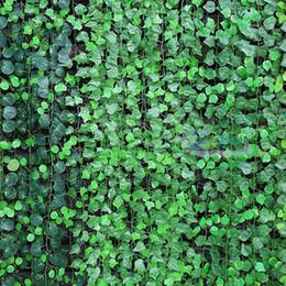 Plantas de folha de uva artificial on-line-Festivo E Fontes Do Partido Guirlanda Plantas Folha De Uva Artificial Folhagem Falsa Flores Penduradas Decoração Verde