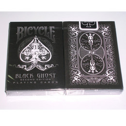 Wholesale Magic Tricks Free Shipping - Ellusionist Black Ghost Deck Bicycle Playing Cards Tricks Magic Poker Card Magic Trick Free Shipping