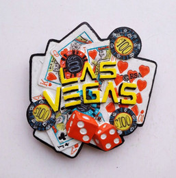 Wholesale Magnetic Stickers For Kids - agnet boards for kids High-grade Painted Handmade Las Vegas Heart 3D Fridge Magnet Travel Souvenirs Refrigerator Magnetic Stickers Home D...