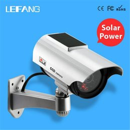 Wholesale Dummy Solar Powered Cctv Cameras - New Virtual camera Solar Power Dummy Camera Outdoor Security CCTV Surveillance Dummy Camera with Flash LED Light