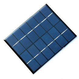 Wholesale Solar Cell Epoxy - High Quality 2W 6V Mini Solar Cell Polycrystalline Epoxy Solar Panel Solar Module For DIY Charger Toys 136*110*3MM Free Shipping