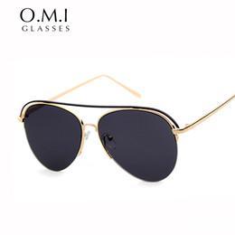 5c3e43c6338 2017 gafas de Sol de Moda Hot Ray Men Pilot Oversized Flat Top Sun Glasses  Shades Vintage Brand Designer OM262 barato gafas de sol pilotos ray