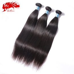 Wholesale 6a peruvian hair - Wholesale-Peruvian Virgin Hair Straight Ali Queen Hair Products 3pcs Lot Unprocessed 6A Virgin Peruvian Straight Virgin Human Hair Weave