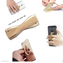 Wholesale Edge Tablet Phone - Finger Grip Selfie Elastic Strap Mobile Phone Holder Universal Tablet Holders for Samsung Galaxy S7 edge S6