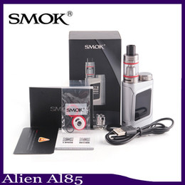 Wholesale Ecig Metal - SMOK Alien Baby Kit AL85 Starter Kit Tiny E Cigarette Starter Kit ECig Vape 85w Box Mod vs istick pico 0268040