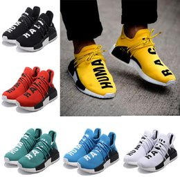 Wholesale Light Running Shoes Free - 2017 New Arrivals Orignal NMD Human Race Runner Sports Running Shoes Human Race sneakers red Yellow black colorways eur 36-47 free shipping