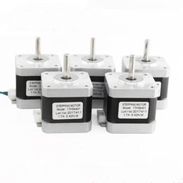 Wholesale Cnc Nema 17 - 5pcs 4-lead Nema17 Stepper Motor 42 Nema 17 do motor do motor 42 1.7A 42BYGH 40 MM (17HS4401 motor) para CNC XYZ