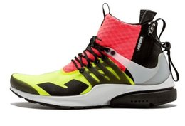 Wholesale Cargos Discount - 2016 Acronym Air Presto Mid Running Shoes Discount Cheap Sneaker Trainers Sportswear Black-bamboo Lava olive cargo green Sports Running Shoe