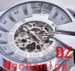 Wholesale Mechanical Military Watches - Brand new Men's atmos Clock DZ Automatic machine steel strip Watches Steel Military Men's Wristwatch DZ Men Watch Relogio luxury brand