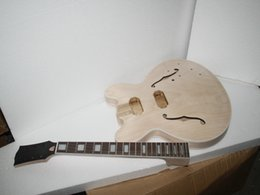 Wholesale Unfinished Electric Guitar Bodies - New Arrival 335 style PROJECT Unfinished electric guitar body for DIYer