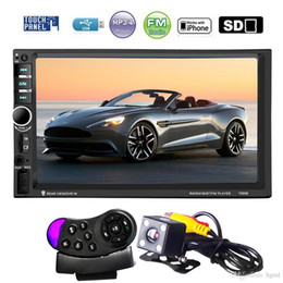 Wholesale Car Mp5 - 7 Inch HD Touch Screen 2 Din Bluetooth Car Audio Stereo FM MP5 Player Support AUX   USB   TF   Phone with Rearview Camera CMO_21M