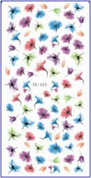 Wholesale Wholesale Pets Transfers - Wholesale- WATER TRANSFER DECAL NAIL STICKER CARTOON ANIMATION FLYING FLOWER PETAL ANIMAL PETS YE423-428