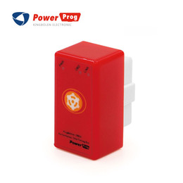 Wholesale Obd2 Opel Reset - New PowerProg Chip Tuning Box With reset button for OBD2 Diesel car Plug and Drive NitroOBD2 More Power   More Torque
