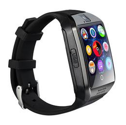 Wholesale Gsm Camera For Home - Hot On Sale Bluetooth Smart Watch Apro Q18 Sports Mini Camera For Android IOS iPhone Samsung Smartphones GSM SIM Card Touch Screen