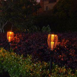 Wholesale led ip44 - Outdoor Waterproof Solar Panel Rattan LED Torch Lights LED Flame Landscape Lawn Lighting Garden Patio Street Light Solar Flickering LED Lamp