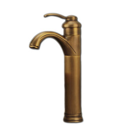 Wholesale Antique Brass Single Handle Faucet - Free shipping solid brass antique bathroom faucet with single handle single hole bathroom basin sink faucet
