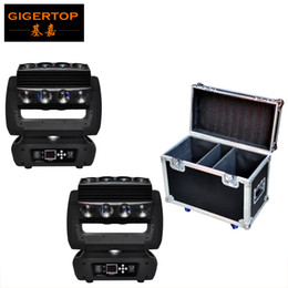 Cabeza china ligera online-China Flightcase 2IN1 Pack con ruedas 16 Head Led cabeza móvil araña luz LCD Display Ultimate rotación LED control individual