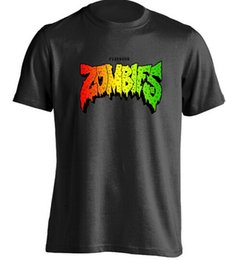 Wholesale White Zombie Shirt - Summer Short Sleeves Fashiont Flatbush Zombies Mens & Womens Personalized t-shirt Custom t-shirt
