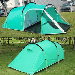 Wholesale two room tents - Outdoor 3-4 Person Camping Tent Family Hiking Party Tents One Bedroom & One Living Room Casual Waterproof Tents For Events DHL Free Shipping