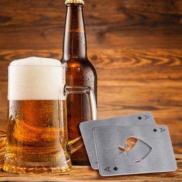 Wholesale Bar Beer Bottle Opener - New Stylish Hot Sale Poker Playing Card Ace of Spades Bar Tool Soda Beer Bottle Cap Opener Gift