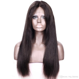 Wholesale Nice Lace Front Wigs - Natural Human Hair Wig Straight For African American Market Nice Quality Front Lace Wigs Baby Hair