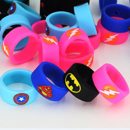 Wholesale Flash Protection - Vape Band Silicone Rings Colorful Decoration Protection Rubber Rings Deadpool Flash Hulk Batman 11pcs Logo Fit E Cigarette DHL Free