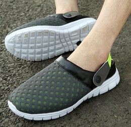 Wholesale Cheap Pink Wedges - The high quality2017 Unisex Casual Sandals Fashion Breathable Mesh Shoes Summer Men Sandals Cheap Men Slippers