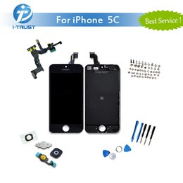 Wholesale Tools For Cameras Repair - New Brand LCD Display For iPhone 5C Touch Screen Digitizer With Front Camera& Homebutton Full Assembly Set With Repair Tools & Free Shipping