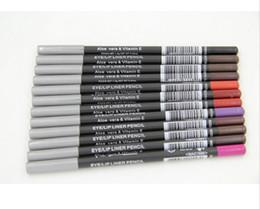 Wholesale Eyeliner Pen Pencil Color - FREE SHIPPING NEW brand Makeup Eyeliner Pen Pencil Eye Liner Lipliner Pencil 12 Colors free shipping 24pcs lot