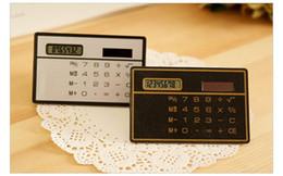 Wholesale World Time Alarm Clock - Cute mini portable card calculator Pocket calculator Solar calculator slim Cheap