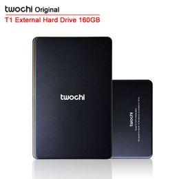 externe festplattenverkäufe Rabatt Großhandels-Auf Verkauf Kostenloser Versand TWOCHI T1 Original 2,5 '' Mobile Portable HDD 160 GB USB2.0 Externe Festplatte Storage Disk Plug and Play