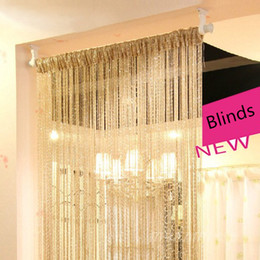 Wholesale Fringe String Curtain - Wholesale-solid color decorative string curtain 100cm*200cm Panel Spangle Fringe curtain window blind vanlance room divider Free Shipping