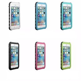 Wholesale Iphone Shockproof Dirtproof Waterproof Case - For iphone 7 plus 6 Plus 5s 5c SE Red Pepper IP68 Waterproof Snowproof Dropproof Dirtproof Shockproof cell phone Cases 20pcs