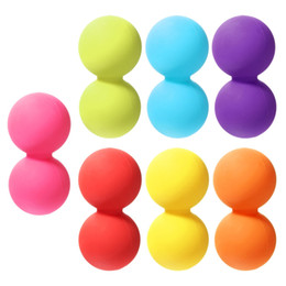 Wholesale Double Trigger - Wholesale-Body Building Yoga Double Lacrosse Message Ball Mobility Myofascial Trigger Point Release Peanut Ball Fitness Ball
