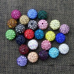 Wholesale Polymer Clay Disco Beads - New Fashion muticolors Free shipping 10mm Clay Crystal ceramic Pave Round Disco Ball Beads polymer clay beads clay diamond ball CB012