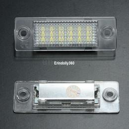 Discount vw led number - Super bright 2x LED License Number Plate Light Lamp For VW Cadillac Transporter Golf Error Free