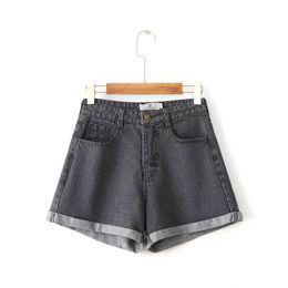 Wholesale Curl Fashion Style - BC35-8238 fashion style high waist curling loose denim shorts 0212