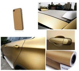 Wholesale Carbon Fibre Wrap Car - 127cmX30cm 3D Carbon Fiber Vinyl Film Car Accessories Motorcycle Carbon Fibre Car Wrap Sheet Roll Film Sticker Decal Car Styling