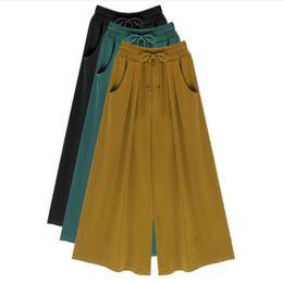 Wholesale Plus Size Palazzo Pants - Summer Plus Size M-4XL 5XL 6XL Women Casual Loose Harem Pants Wide Leg Palazzo Culottes Stretch Trouser Female Clothing