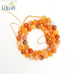 Wholesale Carnelian Bracelets - Wholesale- Lii Ji Natural Stone Carnelian Loose beads 8mm approx 39cm DIY Jewelry Making bracelet necklace