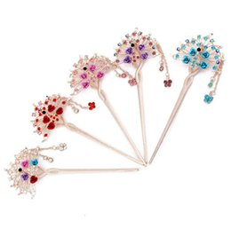Wholesale Crystal Rose Ornament - Brand new Classic retro tassel headdress rose hairpin fashion fresh step shake hairpin hair ornaments FZ007 mix order 20 pieces a lot
