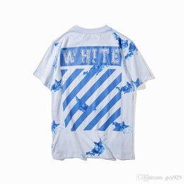 Wholesale Ship White Whale - Free shipping new summer cotton round collar letters stripes printing primer shirt short sleeve loose T - shirt Whale printing