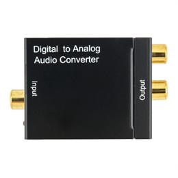 tipos de conectores de altavoz Rebajas Adaptador digital de alta calidad coaxial óptico RCA Toslink señal a convertidor de audio analógico Cable adaptador DHL envío gratis