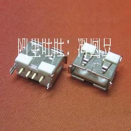 20 adet / grup Yeni Masaüstü USB 2.0 Kadın Tipi Bir 4-pin 180 Derece PCB DIP Soket Jak Bağlantısı Liman Beyaz nereden lvds kablosunu hp tedarikçiler