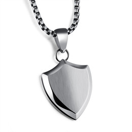 """Wholesale Engraved Guitars - Stainless Steel Pendant Necklace Guitar Pick Holder with 22"""" Chain - Customized Engraving"""