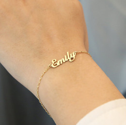 Wholesale Customized Stainless Bracelets - Name Bracelet Stainless Steel Personalized Name Bracelet - Your Exclusive Jewelry,Friendship,Gift,Customized Name Bracelet,Free Gift Box