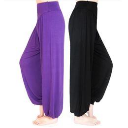 Frauen tanzen yoga kleidung online-Frauen Yoga Hosen Frauen Plus Size Yoga Leggings Bunte Pumphose Tanz TaiChi voller Länge Hosen Modal Hosen Yoga Kleidung