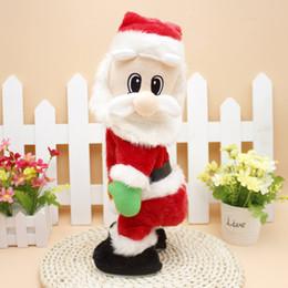 Wholesale Christmas Electric Santa - Wholesale- Christmas Electric Twerk Toy For Kids Ornaments Music Shake hip Santa Claus Children Toys Chiristmas Gifts Xmas Party Favor 46cm