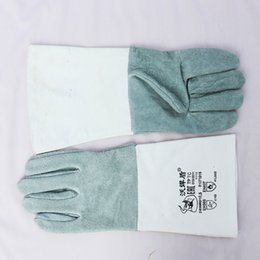 Wholesale Work Welding - Cowhide Canvas Welding Monolayer Gloves High Temperature Wear-Resistant Work Labor Protection for Cutting, Welding and Moving Bricks